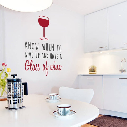 Know When to Give Up Wall Sticker - Wall Chick