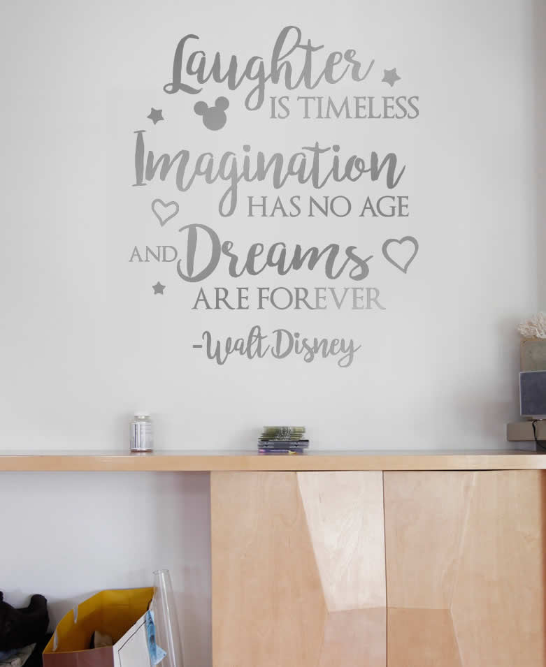 Laughter is Timeless Disney Wall Sticker