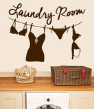 Laundry Room Line Wall Sticker - Wall Chick