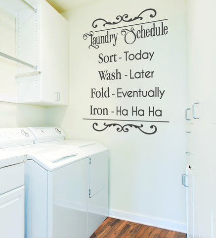 Laundry Schedule Wall Sticker - Wall Chick