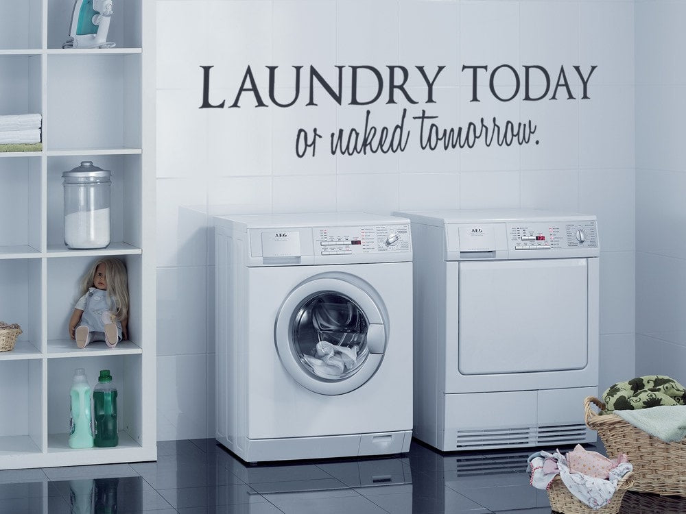 Laundry Today Wall Sticker - Wall Chick