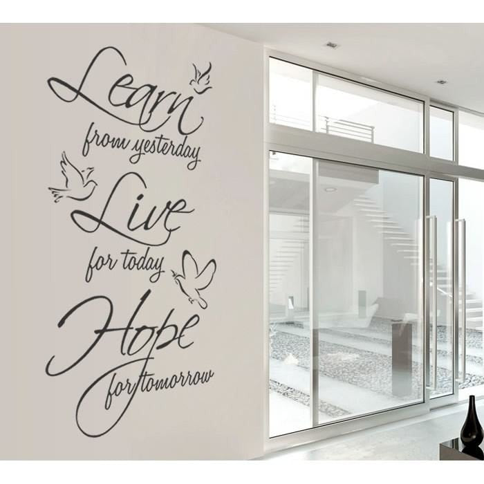 Learn Live Hope Wall Sticker - Wall Chick