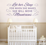 Let Her Sleep Wall Sticker - Wall Chick