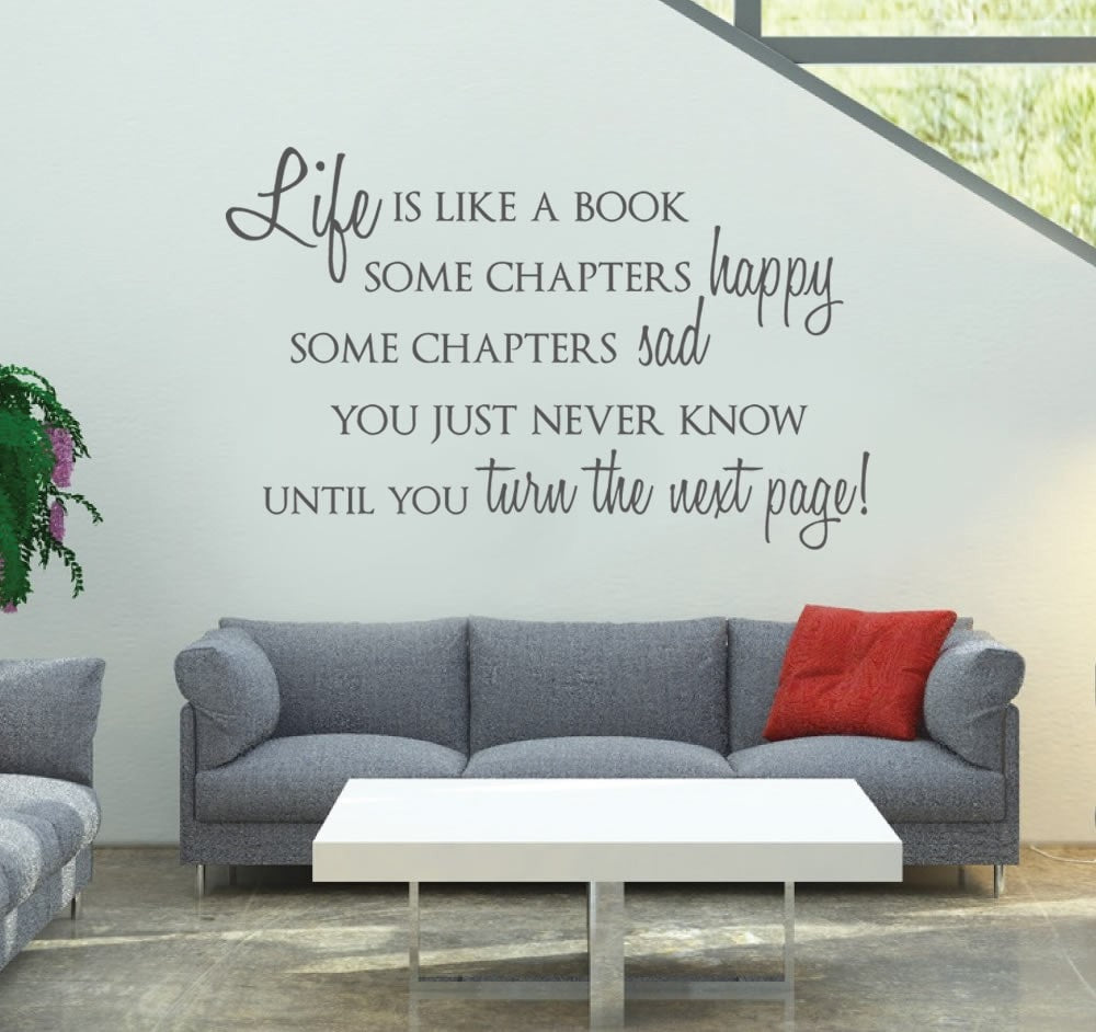 Life is Like a Book Wall Sticker - Wall Chick