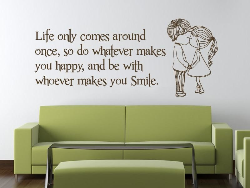 Life Only Comes Around Once Wall Sticker - Wall Chick