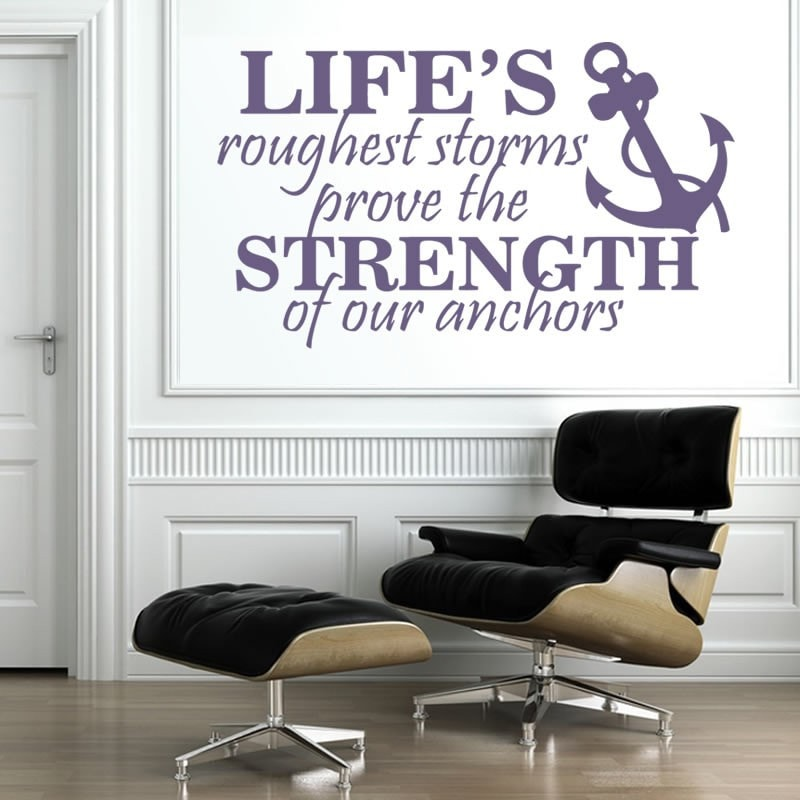 Life's Roughest Storms Wall Sticker - Wall Chick