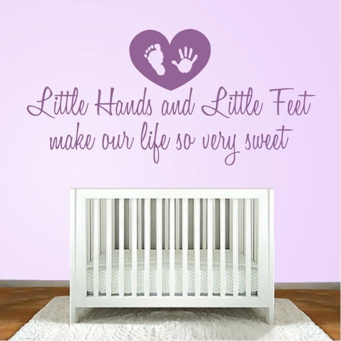 Little Hands and Little Feet Wall Sticker - Wall Chick