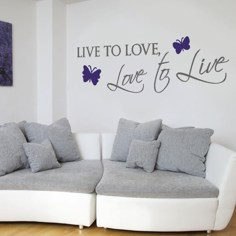 Live to Love Wall Sticker - Wall Chick
