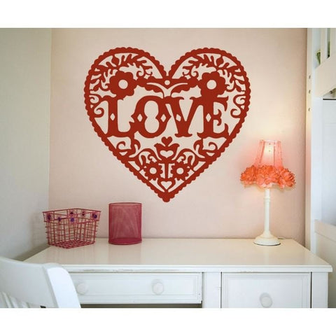 Love Heart Wall Sticker - Wall Chick