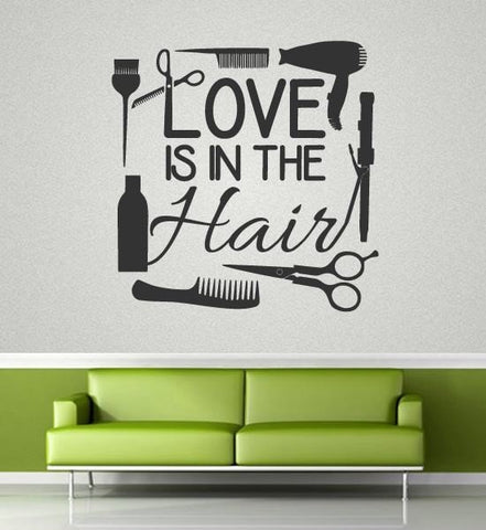 Love Is In The Hair Wall Sticker - Wall Chick