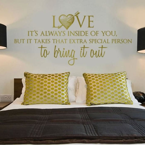 Love - It's Always Inside Wall Sticker - Wall Chick