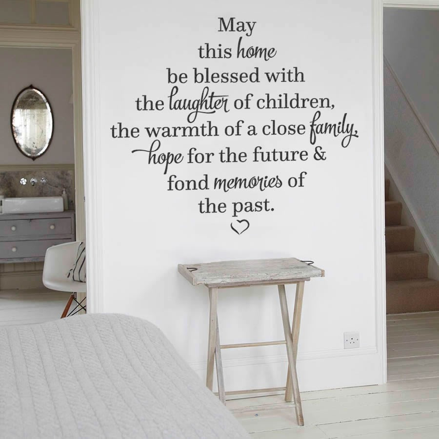 May This Home Be Blessed Wall Sticker - Wall Chick