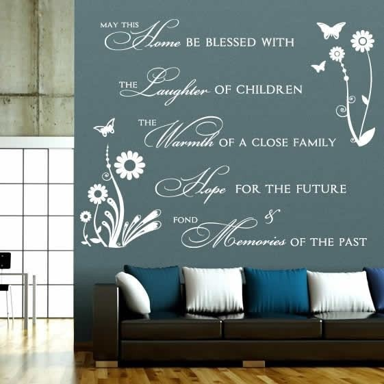Large Blessed Home Wall Sticker - Wall Chick
