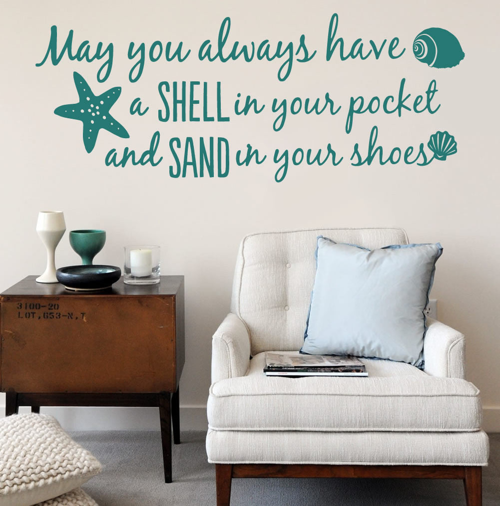 May You Always Have a Shell Wall Sticker