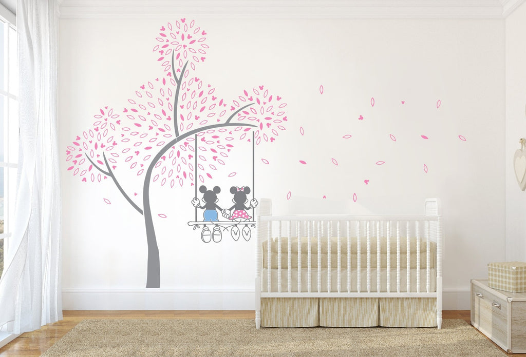 Mickey Mouse Swing Tree Wall Sticker - Wall Chick