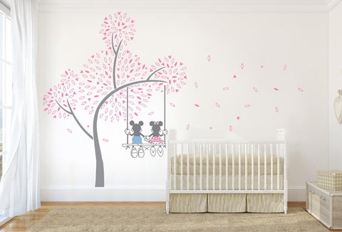 Mickey Mouse Swing Tree Wall Sticker   Wall Chick Part 28