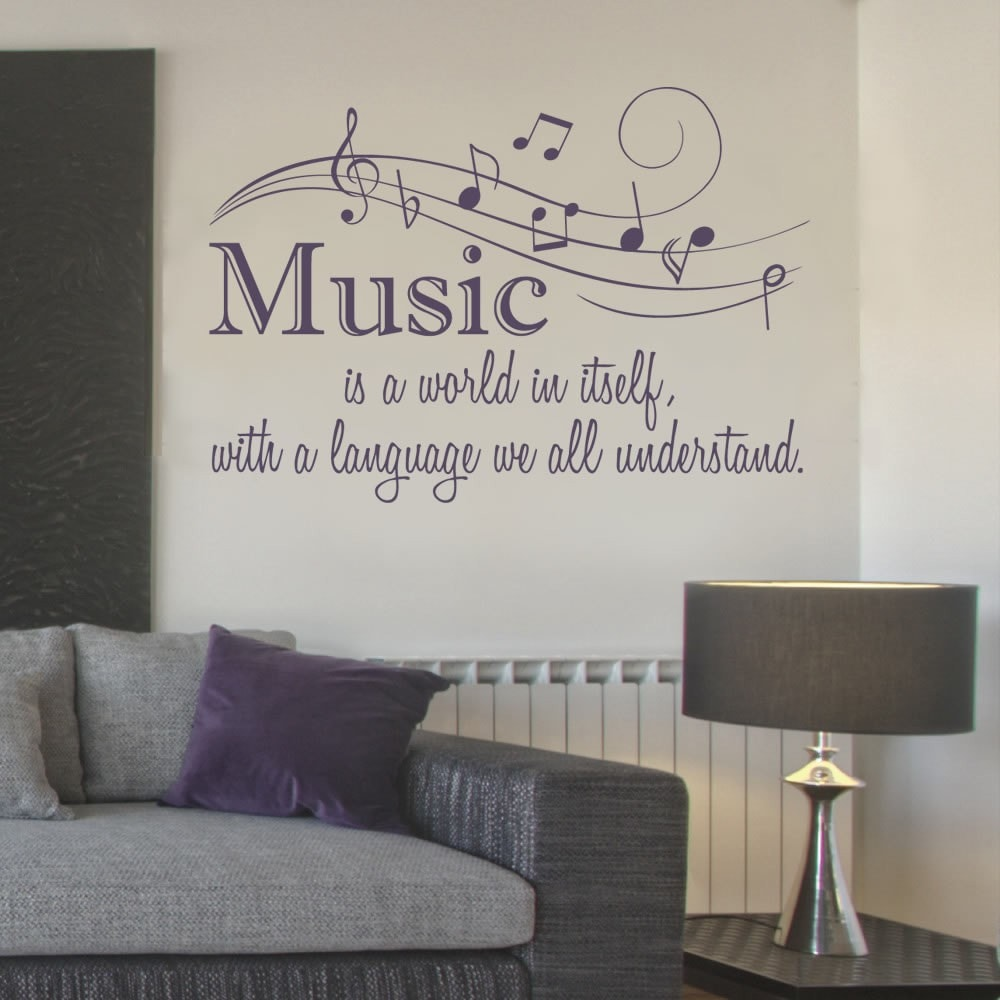 Music is a World Wall Sticker - Wall Chick