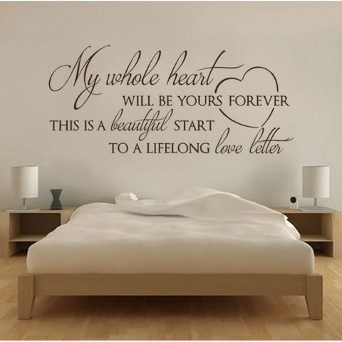 My Whole Heart Wall Sticker - Wall Chick