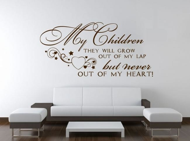 My Children Will Grow Up Wall Sticker - Wall Chick