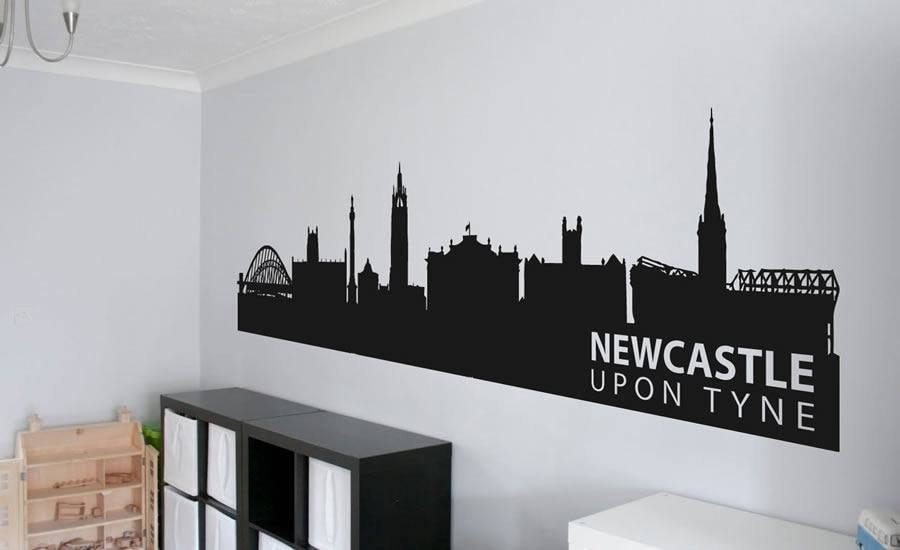 Newcastle skyline wall sticker wall chick