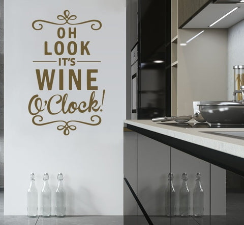 Wine O'Clock Wall Sticker - Wall Chick