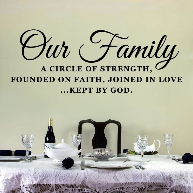 Our Family - Circle Wall Sticker - Wall Chick