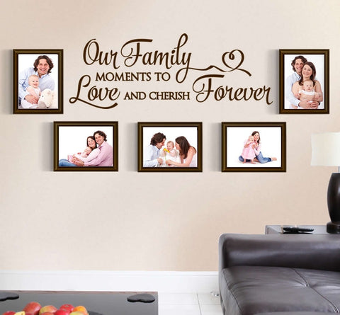 Our Family Moments Forever Wall Sticker - Wall Chick