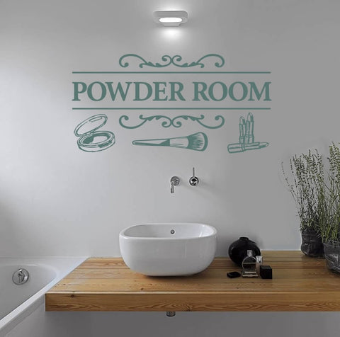 Powder Room Wall Sticker - Wall Chick