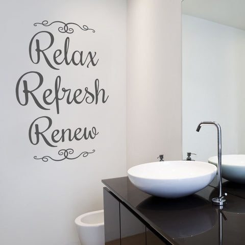 Relax Tall Wall Sticker - Wall Chick