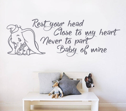 Rest Your Head - Dumbo Wall Sticker - Wall Chick