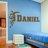 Rugby Player with Name Wall Sticker - Wall Chick