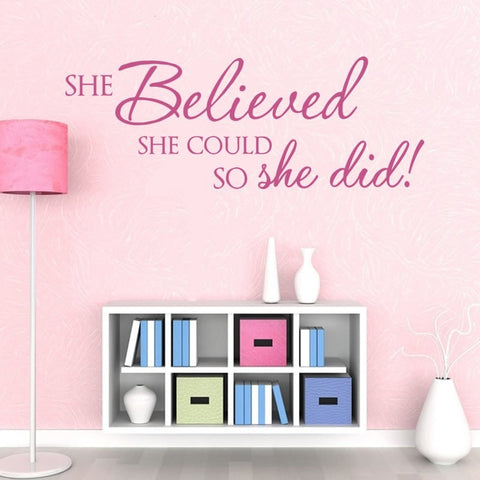 She Believed She Could Wall Sticker - Wall Chick