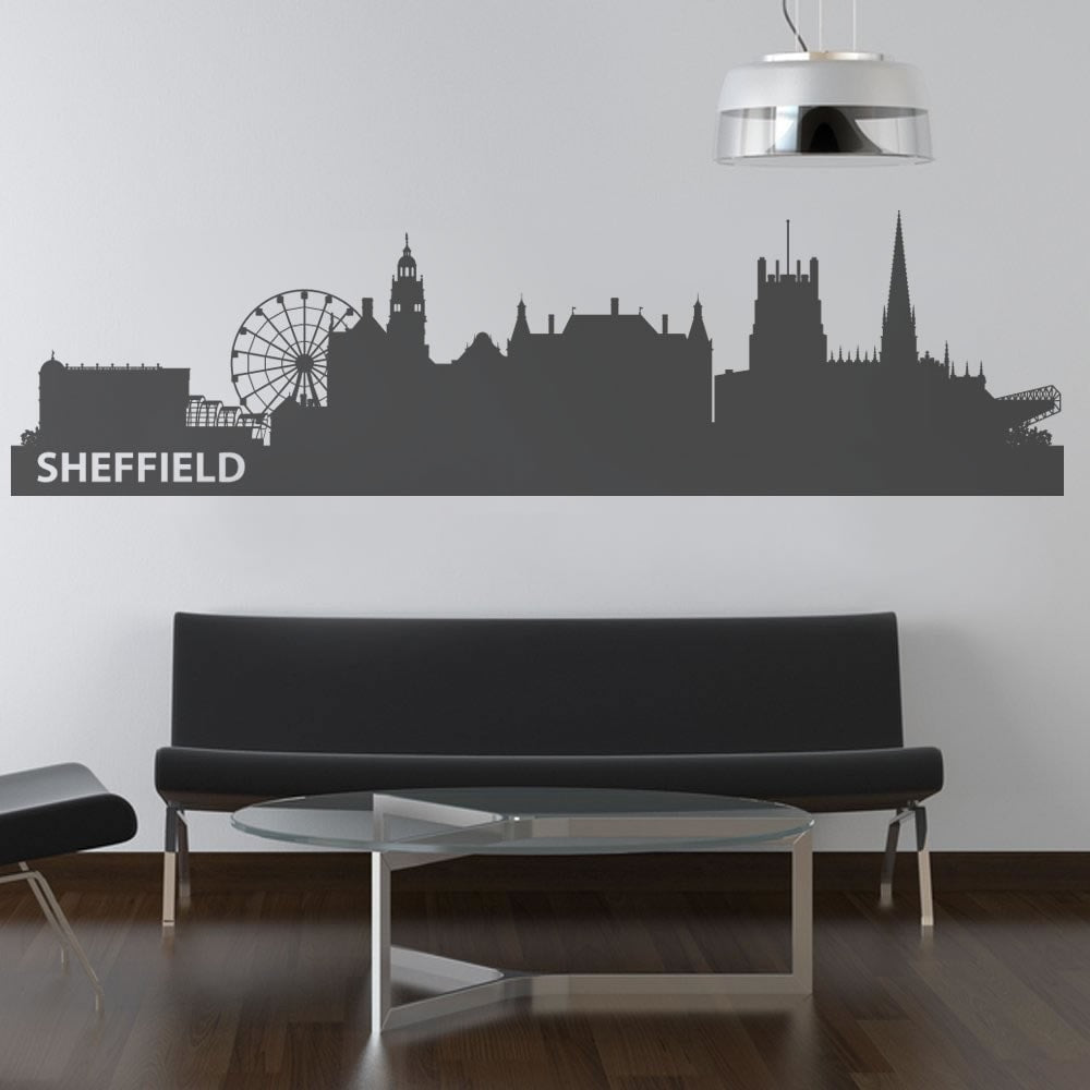 Sheffield Skyline Wall Sticker - Wall Chick