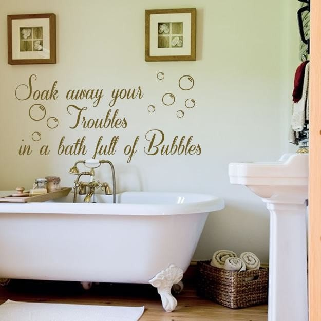 Soak Away Your Troubles Wall Sticker - Wall Chick