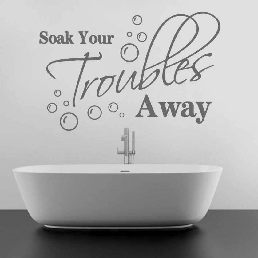 Soak Your Troubles Away Wall Sticker - Wall Chick