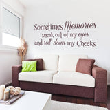 Sometimes Memories Wall Sticker - Wall Chick