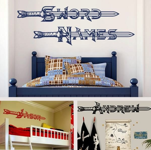 Sword Names Wall Sticker - Wall Chick