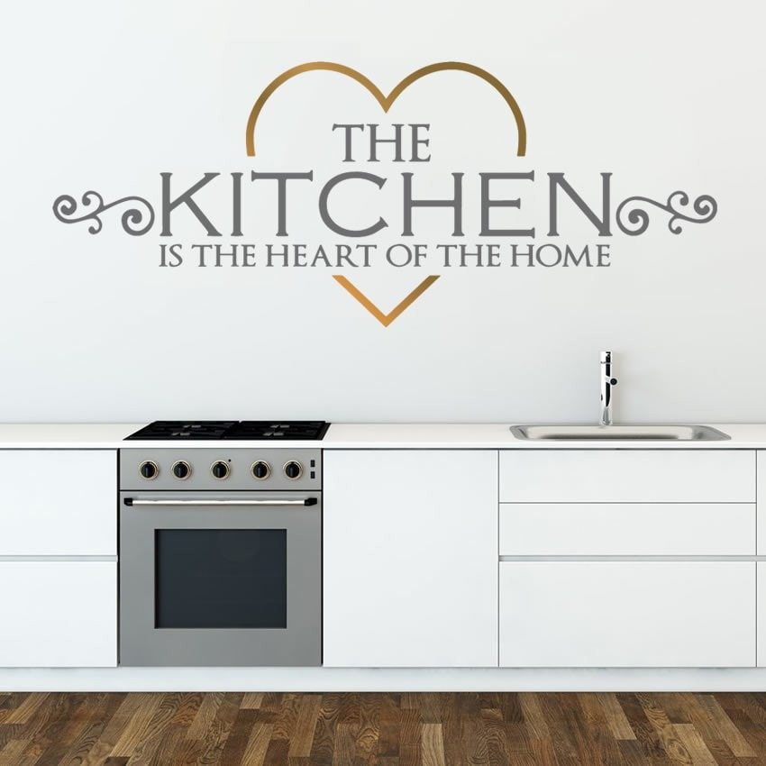 Kitchen is the Heart Wall Sticker - Wall Chick