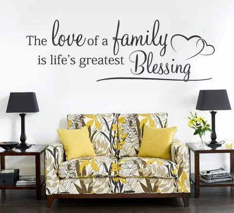 The Love of a Family Wall Sticker - Wall Chick