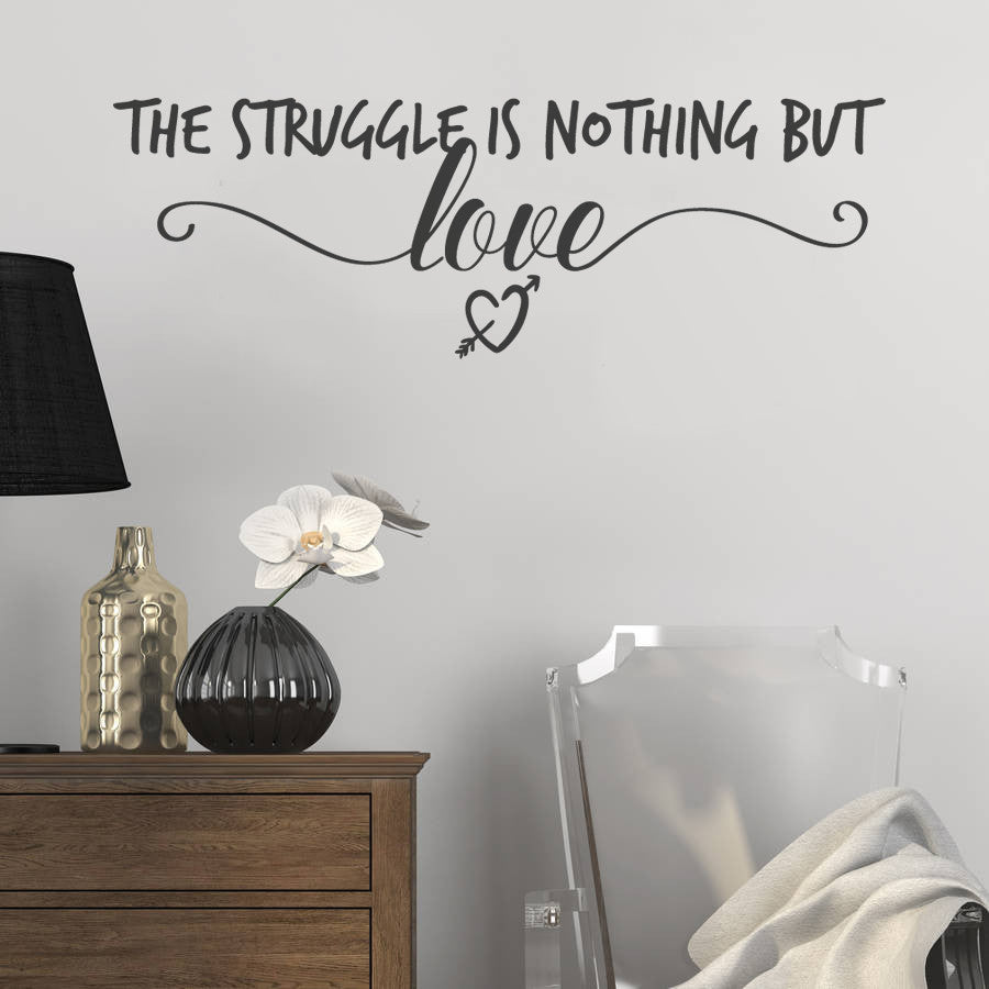 The Struggle is Nothing But Love Wall Sticker