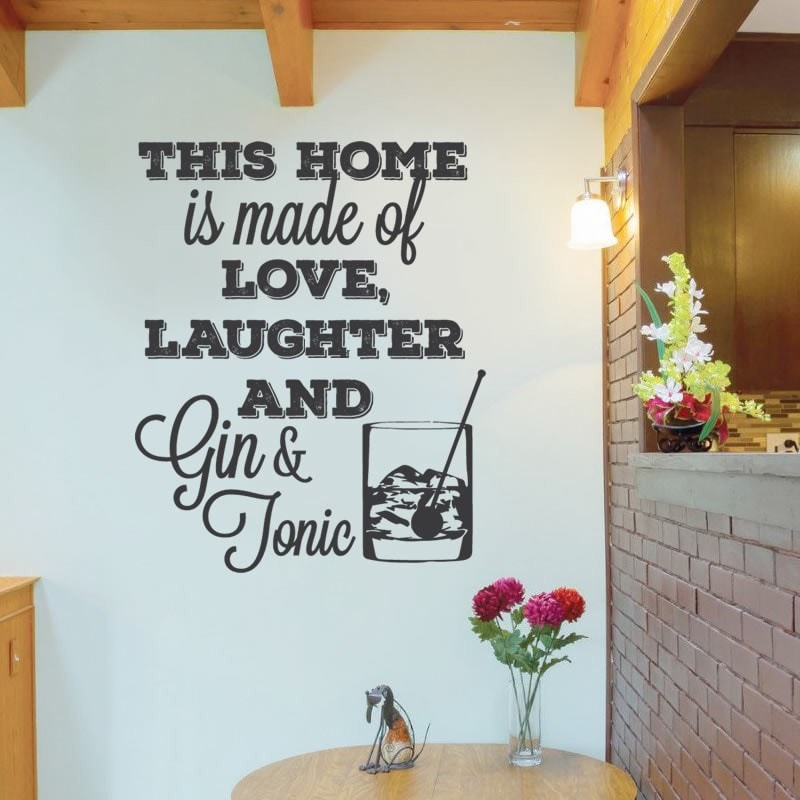 This Home is Filled with Gin & Tonic Wall Sticker - Wall Chick