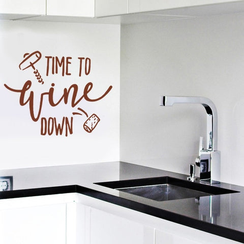 Time to Wine Down Wall Sticker - Wall Chick