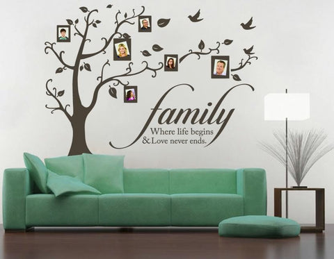 Tree With Family Wall Sticker   Wall Chick Part 96