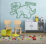 Triceratops with Name Wall Sticker - Wall Chick