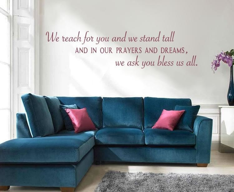 We Reach For You And Stand Tall Wall Sticker - Wall Chick