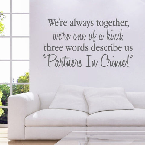 We're Always Together Wall Sticker - Wall Chick