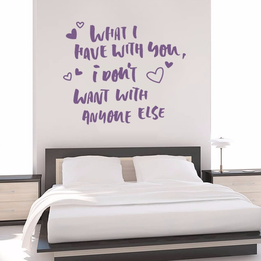 What I Have With You Wall Sticker - Wall Chick
