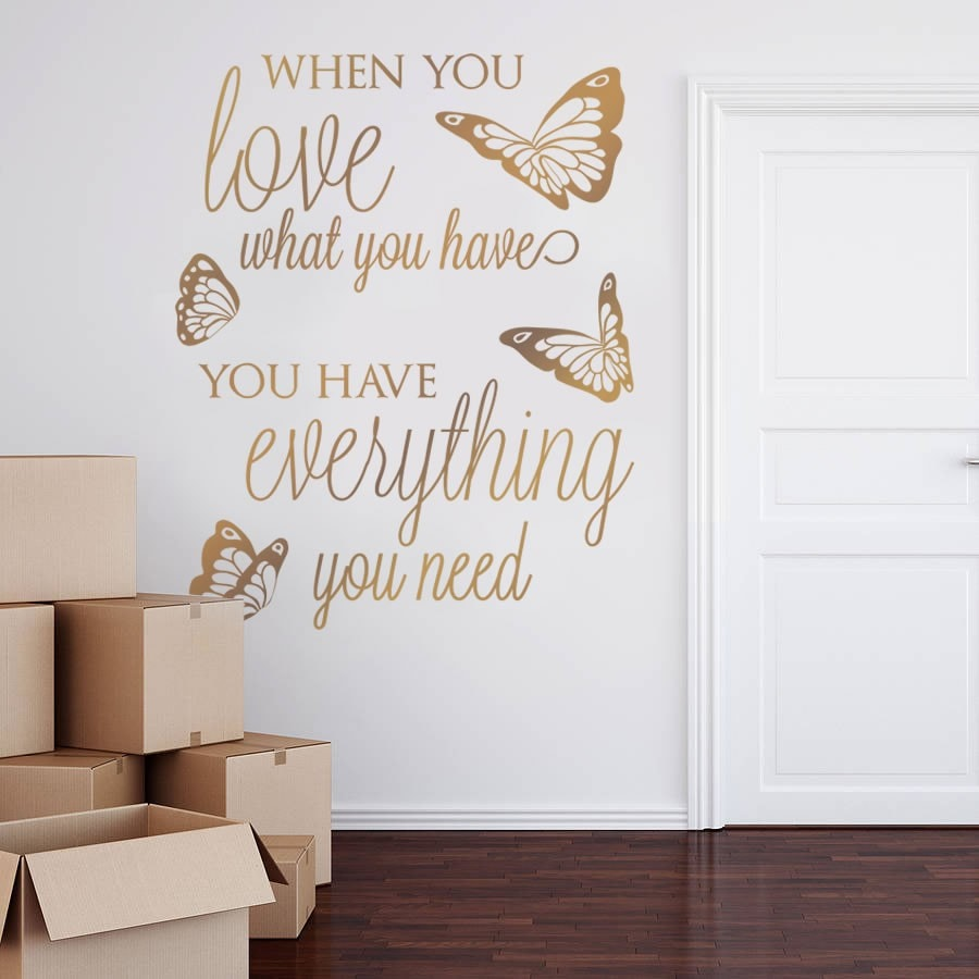 When You Love Wall Sticker - Wall Chick