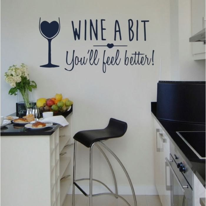 Wine A Bit Wall Sticker - Wall Chick