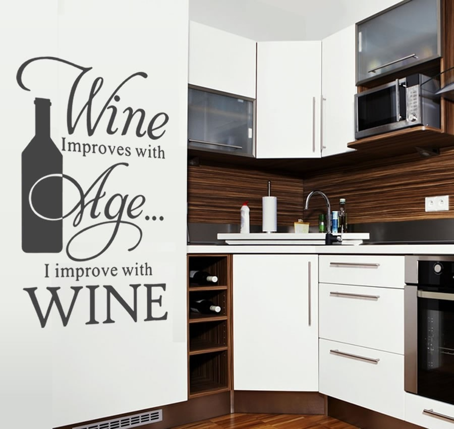 Wine Improves With Age Wall Sticker - Wall Chick